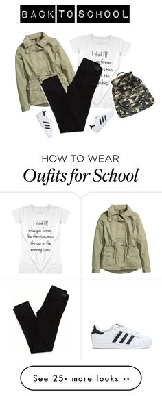 """#65 Back To School Outfit (10)"" by konstantina00085 on Polyvore featuring H&M, American Eagle Outfitters, adidas and Wet Seal"
