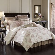 lenox butterfly meadow comforter set queen a | reviews description a finely printed trellis of roses in a