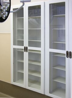 Operating Room Casework Cabinets & Futrus Operating Room Corian casework with routed vents in the ...