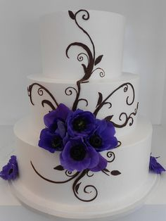 Blooming flower wedding cake (1715) by Asweetdesign, via Flickr