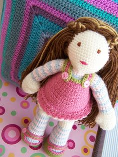 crochet doll. This is adorable!