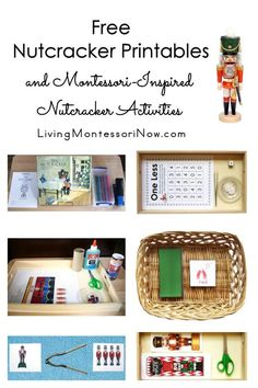 Lots of free Nutcracker printables and Montessori-inspired Nutcracker activities for multiple ages; perfect for classroom or homeschool during the Christmas season - Living Montessori Now Christmas Activities For Kids, Kids Christmas, Toddler Activities, Fun Activities, Christmas Crafts, Montessori Kindergarten, Preschool Themes, 1 Year Olds, Some Fun
