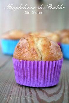 """Unas de las recetas más famosas de magdalenas que circulan por la red es esta!!! y existe tanto la versión """"con gluten"""" como las """"sin gluten..."""