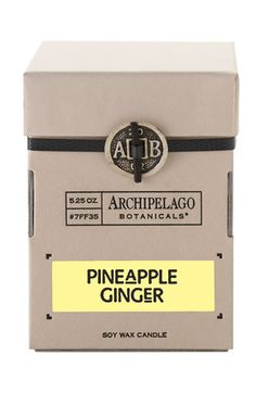 pineapple ginger candle / archipelago