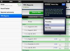 Hours Tracker HD un outil pro sur iPad pour tous ceux qui facturent à l'heure.