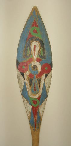 Decorated Paddle, Tapanahon Djuka, Suriname, 19th - 20th century, Metropolitan Museum of Art.