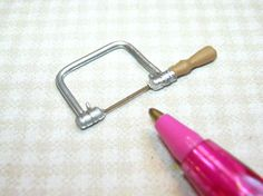Miniature Coping Saw w/Serrated Blade: DOLLHOUSE Miniatures 1/12 Scale