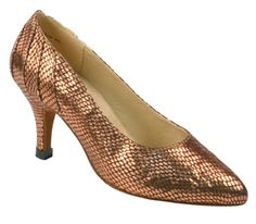 Stephanie Dance Shoes 15020-52, Bronze Leather/Scale