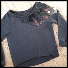 "DIY: Sweatshirt with ""plumage"""