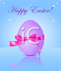 iCLIPART - Royalty Free Clipart Image of an Easter Greeting