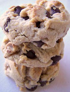 Irresistible Peanut Butter Cookies. Ingredients:     1/2 cup butter     3/4 cup creamy peanut butter     1 1/4 cups brown sugar, firmly packed     3 tablespoons milk     1 tablespoon vanilla     1 egg     1 3/4 cups all-purpose flour     3/4 teaspoon salt     3/4 teaspoon baking soda