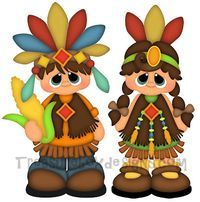 Little Indians- Treasure Box Designs Patterns & Cutting Files (SVG,WPC,GSD,DXF,AI,JPEG)