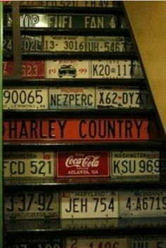 Cool idea for my basement stairs!