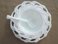 Imperial Star Holly leaf milk glass mayo bowl or sauce dish