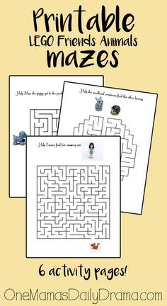 LEGO Friends Animals maze activity book | One Mama's Daily Drama