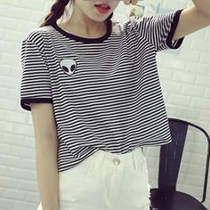 Buy 'Dute – Short Sleeves Alien Embroidered T-shirt' with Free Shipping at YesStyle.com.au. Browse and shop for thousands of Asian fashion items from China and more!