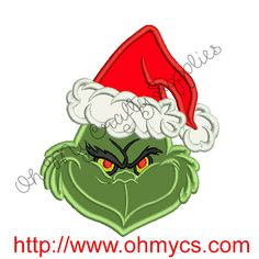 Green Santa Claus Applique Embroidery Design – Oh My Crafty Supplies