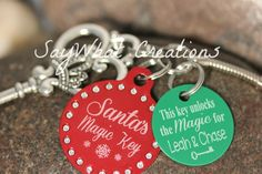Santa's Magic Key custom with poem and names by SayWhatCreations, $20.00