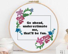 128 Best Funny subversive Cross stitch patterns by DeLorai