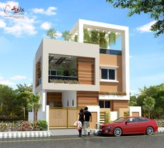 Small house front front house design small house elevation modern homes exterior designs small house front . 2 Storey House Design, House Front Design, Modern House Design, Door Design, Beautiful Small Homes, Small Modern Home, Modern Homes, Building Elevation, House Elevation