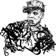 graffiti alphabet letter on hip hop style