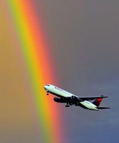 767 Rainbow Takeoff, Salt Lake City Airport, Utah