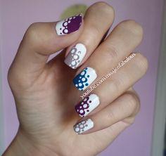 Lace polka dot nails