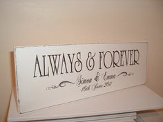 Shabby chic always and forever personalised by debbri on Etsy, £17.81