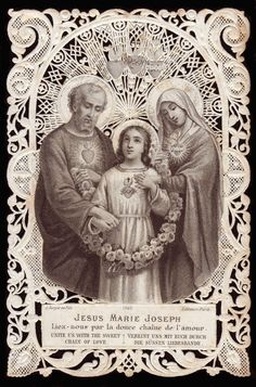 Jesus Mary Joseph, Unite us with the sweet chain of love
