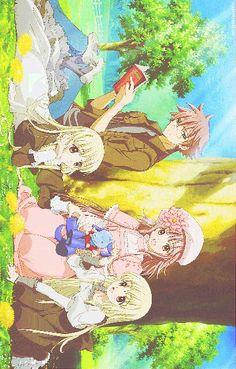 Fujimoto, Chiho, Chise, Ioryogi & Kobato | Fujimoto Kiyokazu | Chise | Chiho | Ioryogi | Hanato Kobato | Kobato | CLAMP Cardcaptor Sakura, Anime Ships, Cute Love, Clamp, Japanese Art, Webtoon, Otaku, Anime Art, Childhood