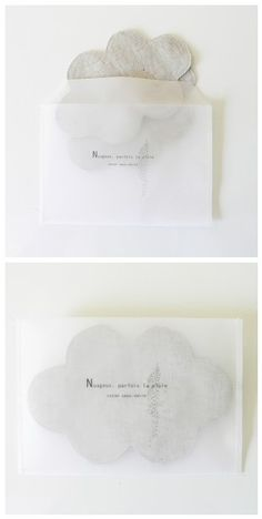 """""""nuageux, parfois la pluie"""" cloud coaster Arts And Crafts, Paper Crafts, Diy Crafts, Packaging Carton, Invitation Card Design, Wedding Invitation, Mail Art, Diy Projects To Try, Packaging Design"""