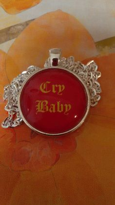 "Cry Baby 1"" photo glass charm necklace now available in my Etsy shop https://www.etsy.com/listing/250734718/cry-baby-1-glass-photo-charm-necklace"