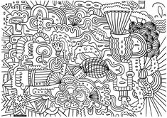Free coloring page coloring-doodle-art-doodling-1. A doodle with a beautiful message to print & color