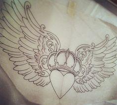 Claddagh tattoo design