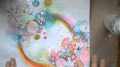 Mixed Media Layout Tutorial - with Gelatos and Shimmerz