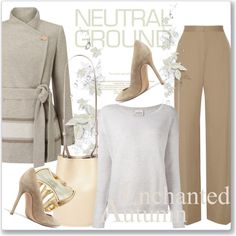 Cool Neutrals by andrejae on Polyvore featuring мода, Le Kasha, Jacques Vert, The Row, Gianvito Rossi, Creatures of Comfort, Robert Lee Morris and neutrals