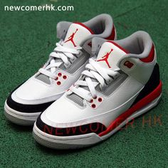 finest selection 283f6 a0020 Air Jordan Retro 3, Fire Red, Junior