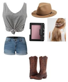 """In the country"" by fashion102474 ❤ liked on Polyvore featuring LE3NO, Ariat, rag & bone, ASOS, NARS Cosmetics and country"