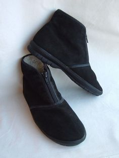 Black  Suede Leather DESERT  Zip up Chukka Boot US 6M VERY NICE- Green Ease #Unknown #FashionAnkle