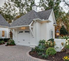 Grove Manor Detached Garage - American Cottage - Farmhouse Style - via Southern Living Garage House, Man Cave Garage, Carriage House Garage, Garage Loft, Small Garage, Detached Garage Designs, Design Garage, Exterior Design, House Design