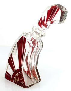 Art Deco Modernist Karl Palda Bohemian Crystal Decanter Glass image 4