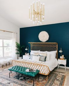 This boho bedroom belonging to @avestyles and designed by @decoristofficial features in our Sweet Dreams bedroom feature in the new issue of Adore. I'm obsessed with that pendant light. Shop the new issue in our online shop or newsagents Australia-wide. @rennaihoefer