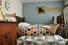 Bedroom, Masters Hotel, Burr Oak Iowa.