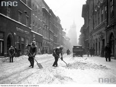Zima w Krakowie na starych zdjęciach - Kraków