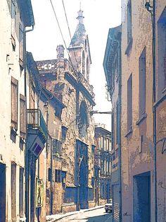 'Eine Gasse in Narbonne' von Dirk h. Wendt bei artflakes.com als Poster oder Kunstdruck $18.03