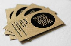 recycled business cards embossed - Google Search