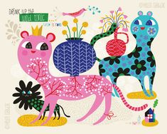 Wild Tonic limited edition giclee print of an by helendardik