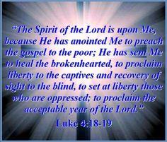Spirit - Luke 4 18 - 19