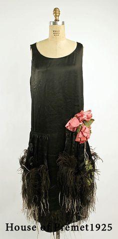 ретро платье сэк лини  House of Premet 1925