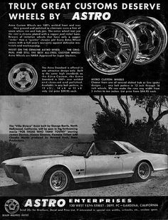 Reinventing The Wheel - An Inside Look At The Customs Era - Rod Authority Auto Parts Store, Car Parts, Classic Trucks, Classic Cars, Truck Tyres, Custom Checks, Car Advertising, Wheels And Tires, Kustom
